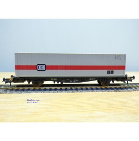 ROCO 66265,  wagon plat chargé d'un conteneur de 20'  DB   Neuf  DB  Neuf   BO