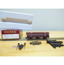 BEMO  2011 816, wagon plat 3 essieux  avec chargement de poutrelles métalliques DB  BO   HOe