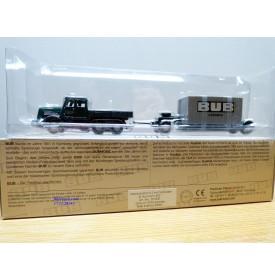 BUB  07000,  camion KAELBLE  KDV6 z   B.Aumann KG. et remorque chargée d'un conteneur BUB  Neuf  BO  1/87