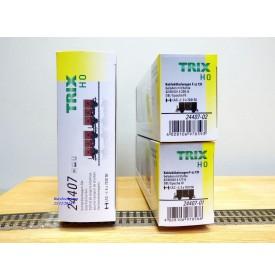 TRIX 24407, coffret 2 wagons à bennes pour  transport de charbon    DB   Neuf   BO