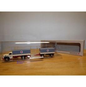 BUB  BRK,  camion  MERCEDES BENZ  L6600 et remorque Bayerisches Rotes Kreuz  Neuf  BO  1/87