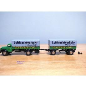 BUB  ????,  camion MAGIRUS DEUTZ  S 6500 et remorque bâchés SCHENKER MANNHEIM  Neuf   BO  1/87