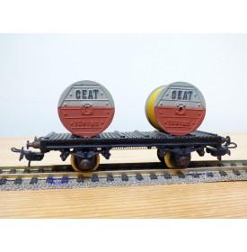 POCHER 311 / 2 , wagon silo special pour transport de ciment SBB
