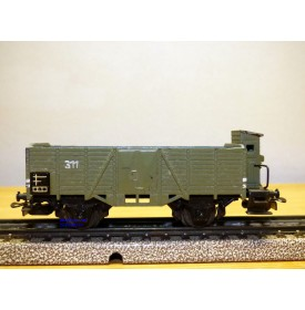 Märklin ancien  315 bg . 8, wagon tombereau à guérite  DB