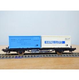 LIMA véro  2855,  wagon plat porte conteneurs CARL ?TIEDEMANN / HAPAG / LLOYD   DB   BO
