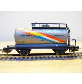 ELECTROTREN 1607, wagon citerne à vin  BODEGAS HISPANO FRANCESAS  RENFE BO