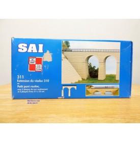 SAI  311, extension du viaduc 310 ou petit pont routier  Neuf BO  1/87  HO