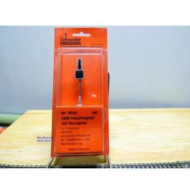 SCHNEIDER 3035, signal principal avec signal d'avertissement ( Hauptsignal mit Vorsignal ) à 9 diodes  SBB   Neuf   BO