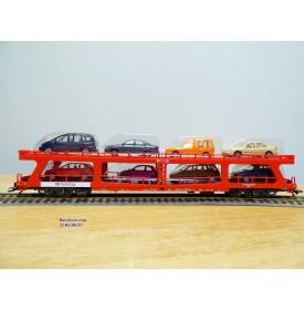 Märklin 42341,  wagon porte autos type DDm 915 chargé 8 auros DB   neuf   BO