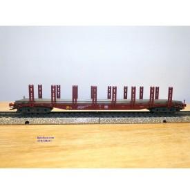 Märklin 4666,  wagon plat à ranchers chargé de rails  type Snps 719  DB    neuf   BO