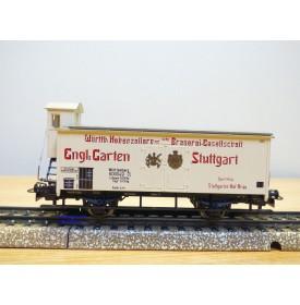 Märklin 4677,  wagon couvert à guérite Englischer Garten Stuttgart   K.W.Ste.  Neuf  BO