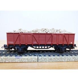 ELECTROTREN  1202, wagon tombereau chargé de ballast   RENFE   BO