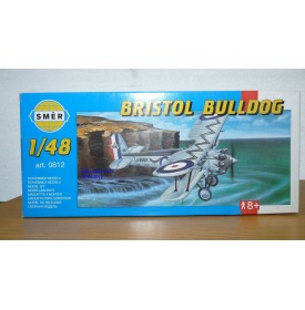 "SMER 0812 chasseur biplan britannique BRISTOL type 105 ""Bulldog"" II A RAF neuf BO 1/48"