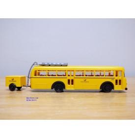 BREKINA Serie 9, autocar Büssing 6500T  et remorque   Deutsche Post Neuf   BO  1/87