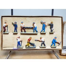 Märklin métal 404 Gc / 0203, coffret de 10 personnages ouvriers de la voie BO