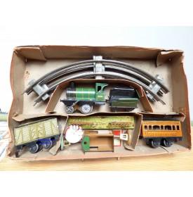 JOUET de PARIS ( J de P, JEP ) ????, rarissime coffret train mécanique GN  BO