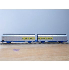 ROCO 44178, wagon à parois coulissantes type  Habbillns  DSB Neuf BO