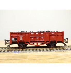 FLEISCHMANN 1455 K,  wagon tombereau type Omms 29 chargé de charbon   DB  neuf  BO