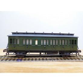 FLEISCHMANN 1406, voiture ancienne à portières latérales à 2 essieux  2 Kl.   DB  BO