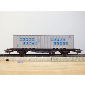 Märklin 4659, wagon porte containers type Berlin  et conteneurs HAPAG LLOYD  NYK LINES    DB   BO