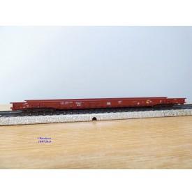 Märklin 4740, wagon plancher surbaissé pour transport de camions type Saadkms 690 DB BO