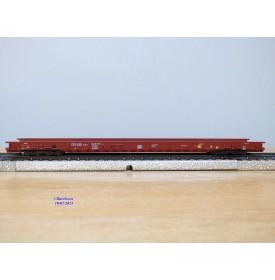 Märklin 4741, wagon plancher surbaissé pour transport de camions type Saadkms 690 DB BO