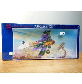 GLENCOE Models 05101, chasseur biplan allemand ALBATROS DIII    Neuf   BO   1/ 48 ème