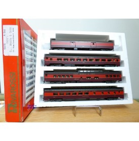 "RIVAROSSI ""véro"" 6976 set A, coffret 4 voitures Gulf Mobile and Ohio  ( GM&O )  neuf     BO"