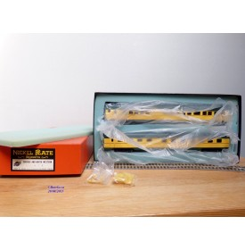 NICKEL PLATE PRODUCTS   ???, coffret de 2 voitures ( Diner et Observation ) Chicago and Northwestern ( C&NW)  neuf   BO