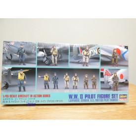 HASEGAWA 3600 /  X48-7,  six pilotes de la seconde guerre mondiale    1/48  Neuf  BO