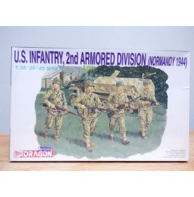 DRAGON 6120, infanterie américaine ( 2 ème division blindée Normandie 1944  ) 4 figurines  1944 1/35 NEUF