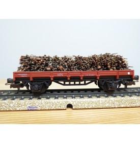 ELECTROTREN  1016, wagon plat chargé de fagots   RENFE   BO