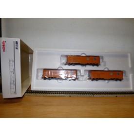 Märklin 45680, coffret de 3 wagons couverts ( Reefer  ) US   neuf  BO