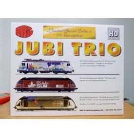 HAG  078 ,  coffret  de 3 motrices  JUBI  Trio  BT , BLS , SBB  neuf   BO
