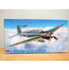 HASEGAWA 09062, bombardier  embarqué japonais NAKAJIMA B6N2 type 12  JILL  et  bombes de 250 Kgs   Neuf  BO 1/48