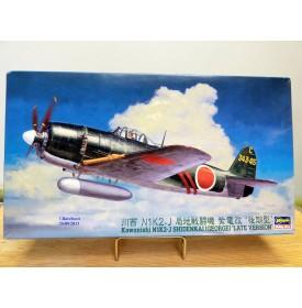 HASEGAWA 09074, intercepteur japonais KAWANISHI  N1K2-J  SHIDENKAI   GEORGE  late  version  Neuf  BO 1/48