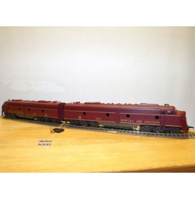 RIVAROSSI 1958, locos diesel EMD E8 A   NORFOLK and WESTERN  ( N&W )  neuf   BO