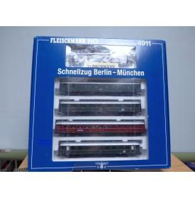 FLEISCHMANN  4911 , coffret  Schnellzug Berlin - München    DRG   neuf   BO