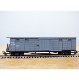 LILIPUT HOe   955,  wagon couvert  à plate forme de serre freins  type GC N°:459  Zillertalbahn   neuf   BO    HOe