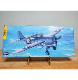 HASEGAWA  53124, chasseur embarqué américain Grumman F4F-4 Wildcat   Neuf   BO  1/72