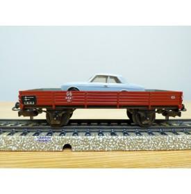 Märklin 4504 . 3,  wagon plat et Ford Taunus 17 M    BO