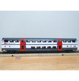 HAG   490.02 ,  voiture 2 Kl.  IC 2000  à 2 étages type B DS IC  N° : B 50 85 26-94 081-4   SBB   neuf    BO