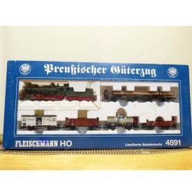 FLEISCHMANN  4891 , coffret  Preussischer Güterzug  DRG   neuf   BO