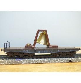 Märklin 84866,  wagon plat pour charges lourdes avec cloche   DR  neuf  BO