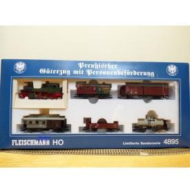 FLEISCHMANN  4895 , coffret train mixte marchandises / passagers   KPEV    neuf   BO