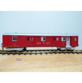 HAG 820 . 2,  Fourgon allégé (Leichtstahlwagen)    rouge   SBB   BO