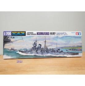 TAMIYA  Water line Series  31344,  Light cruiser Croiseur léger ) japonais  KUMANO Neuf 1/700