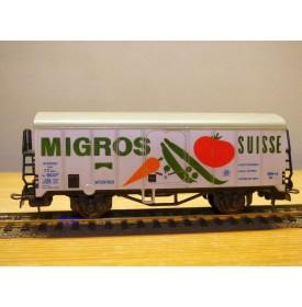 LILIPUT 224 , wagon couvert réfrigérant  type Ibes  MIGROS   FS BO