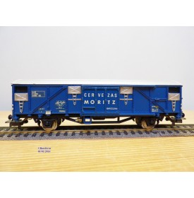 ELECTROTREN  1452,  wagon couvert  réfrigérant  CERVEZAS  MORITZ   RENFE    neuf  BO