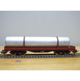 ELECTROTREN 5124,  wagon plat chargé d' un tube métallique  RENFE   neuf  BO